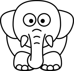 elephant%20head%20clipart%20black%20and%20white