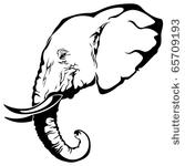 Elephant Head StencilElephant Head Stencil