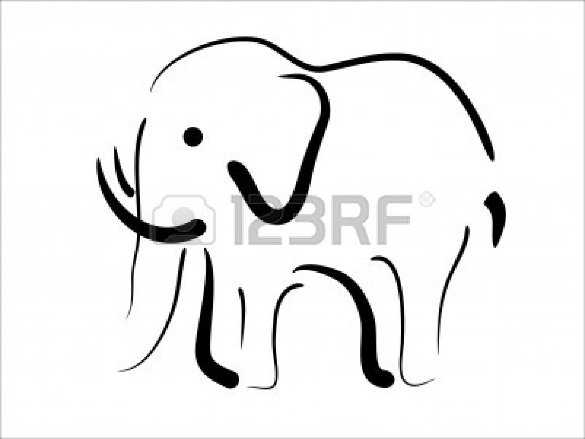 indian elephant drawing outline clipart panda free clipart images
