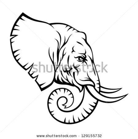 elephant 20head 20outl...