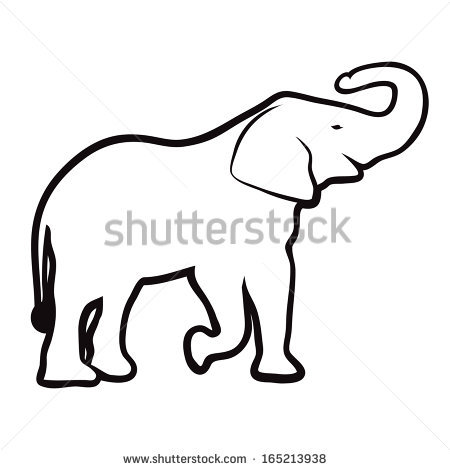 Elephant Head Outline | Clipart Panda - Free Clipart Images