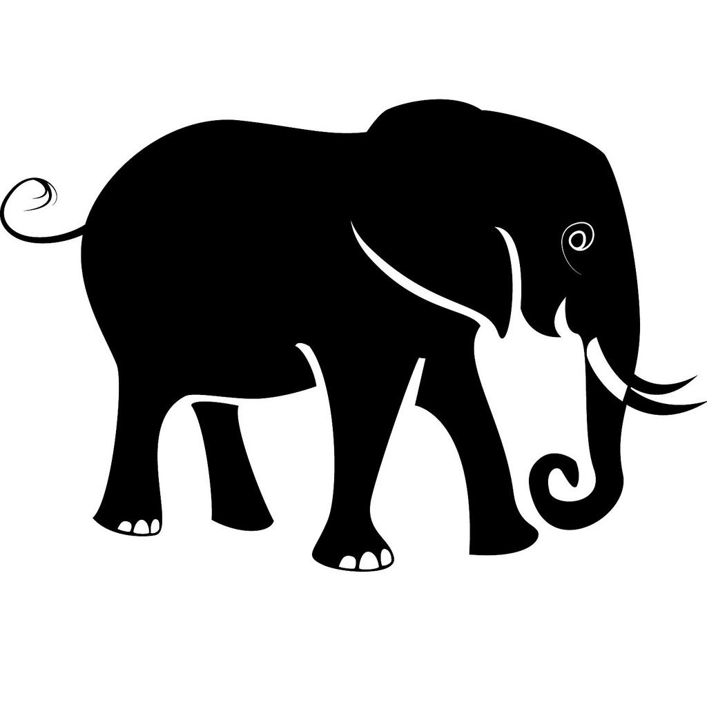 Elephant Silhouette Clip Art | Clipart Panda - Free ...