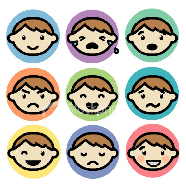 Emotions Clip Art For Kids Emotion clip art for kids to cut out