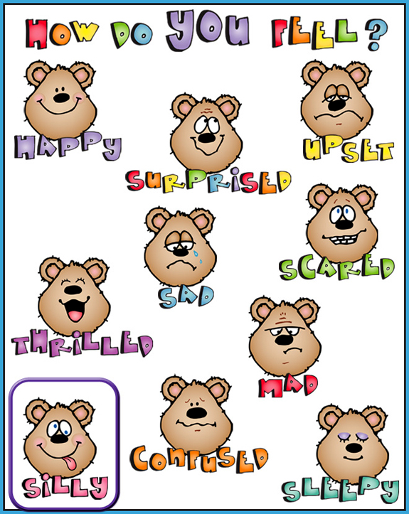 Emoticons Clipart Emotions on Worksheet For Preschool To Do