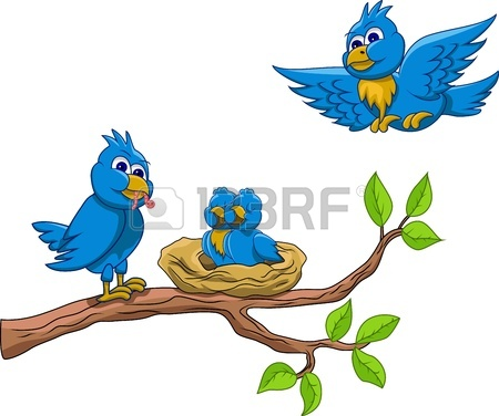 Love Birds Cartoons Birds Nest Loving Bird Clipart