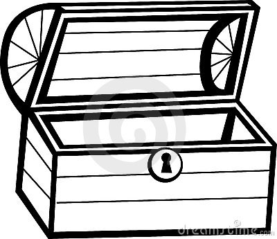 Open treasure chest clipart