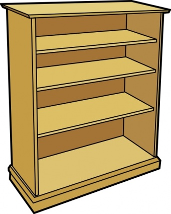 Empty Bookshelf Clipart