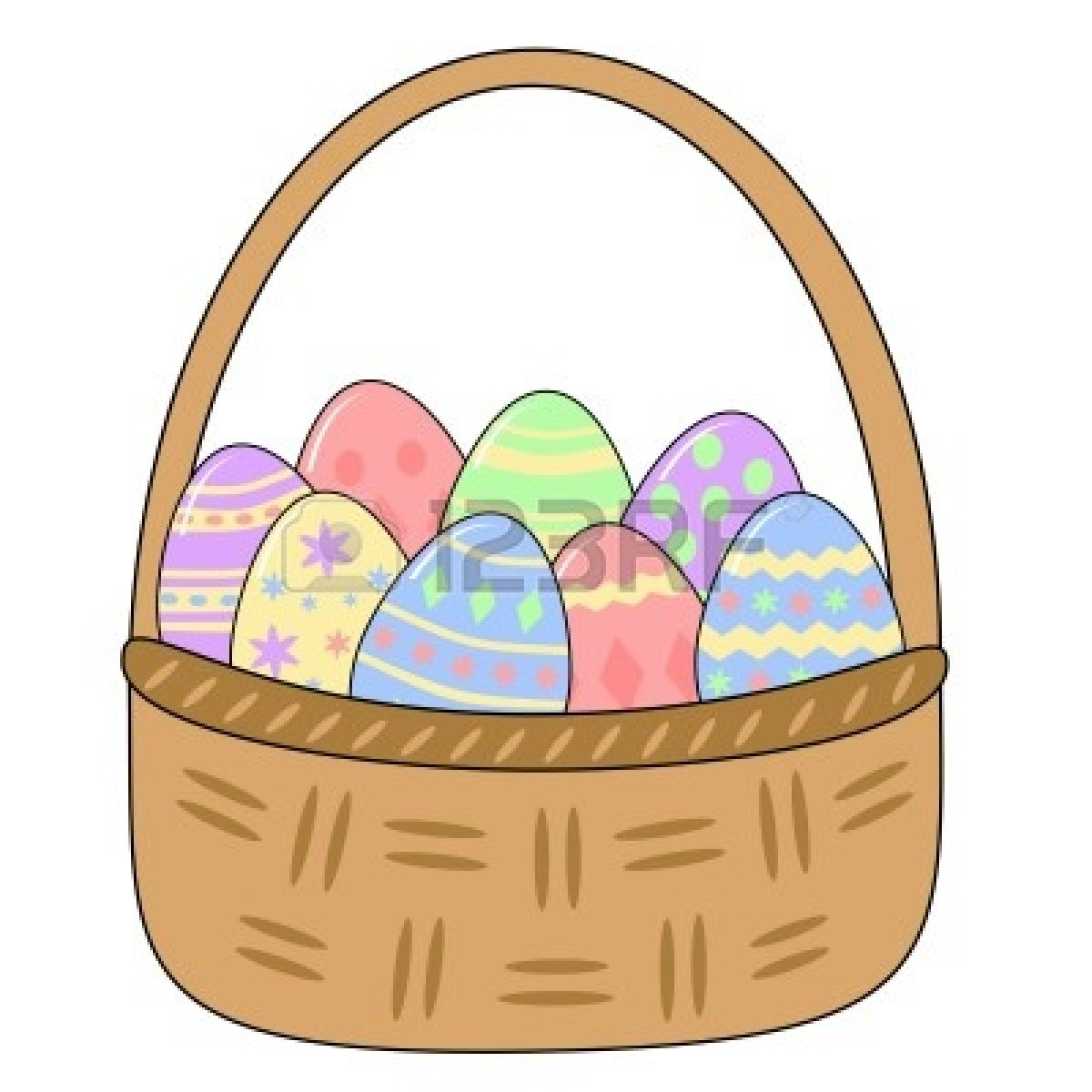 Use these free images for your websites  art projects  reports  and    Empty Easter Basket Clipart