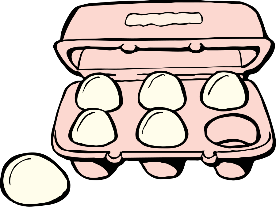 Gallery Empty Egg Carton Clipart Black And White
