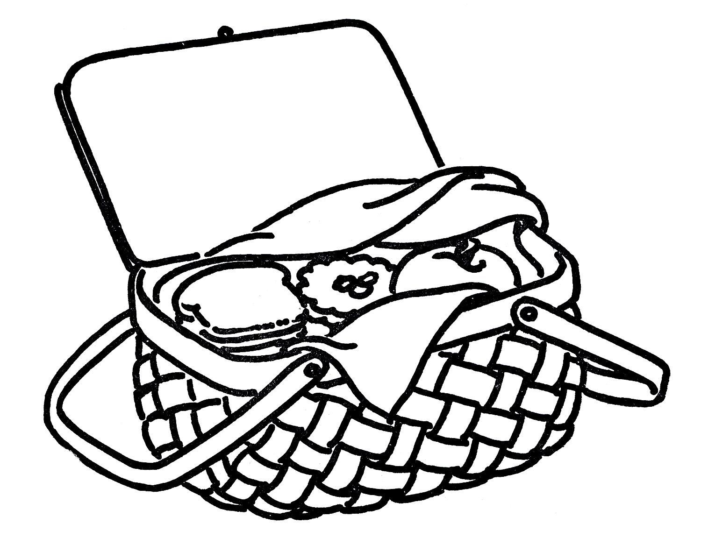 Picnic Basket Graphic : Empty picnic basket clip art clipart panda free