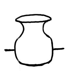 Empty vase coloring page