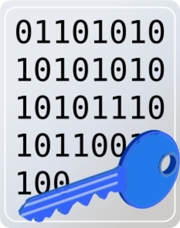 Laptop Encryption Clip Art