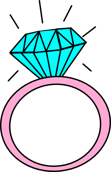 Pin Diamond Ring Clip Art on
