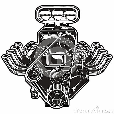 V8 Engine Clipart Engine Clip Art Free |...