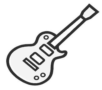 Bass Guitar Clipart Black And White Clipart Panda Free