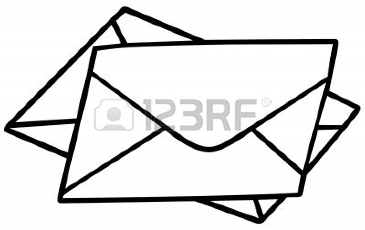 Envelopes - Black and White | Clipart Panda - Free Clipart ...