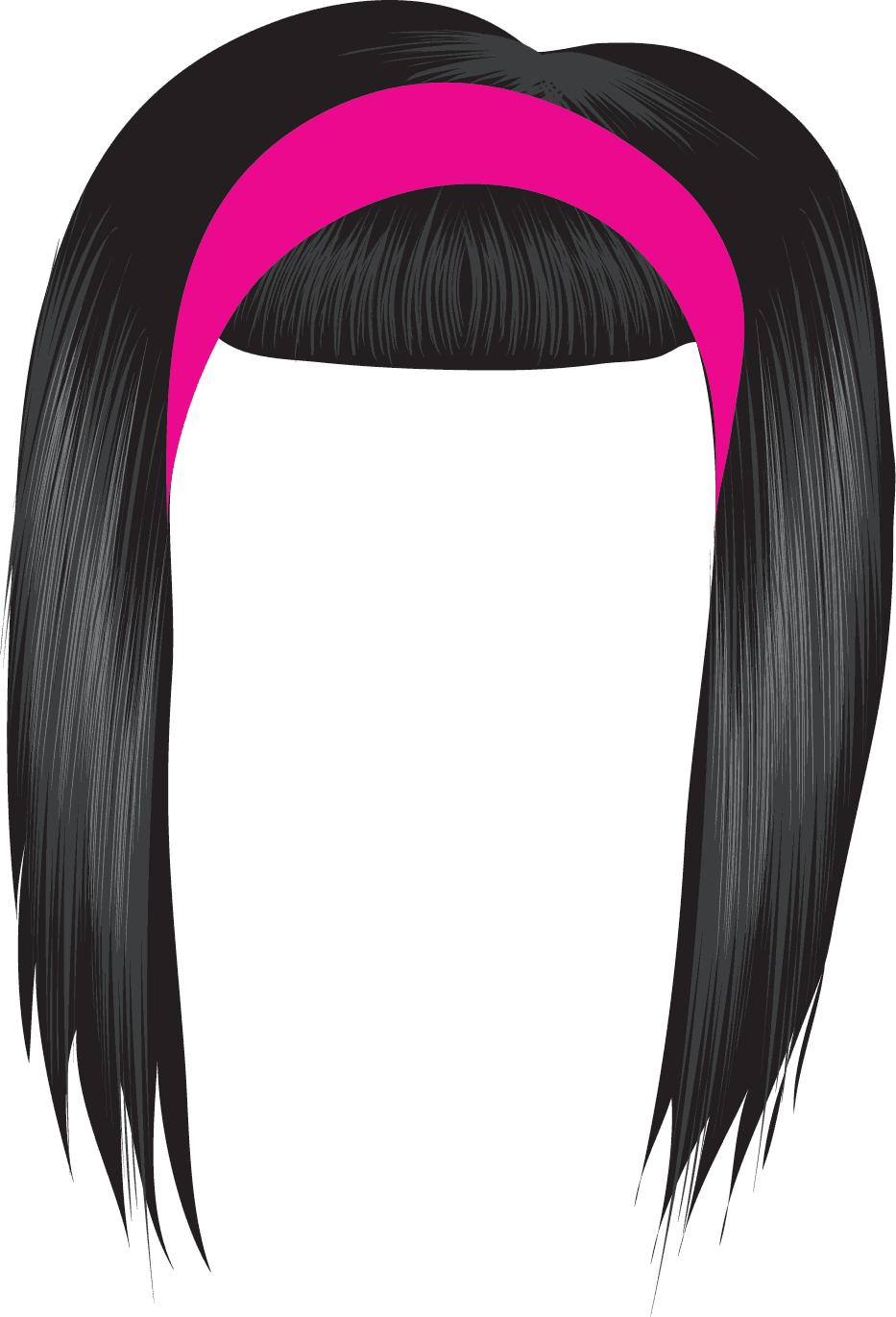 Black Hair Wig Clipart Black Clipart Panda Free Clipart Images