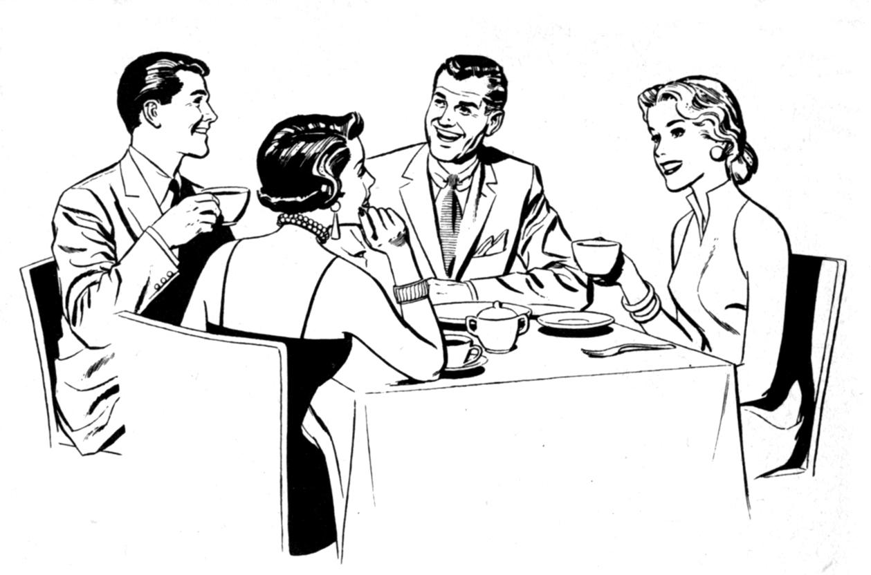 etiquette 20clipart  Table Etiquette Clip Art