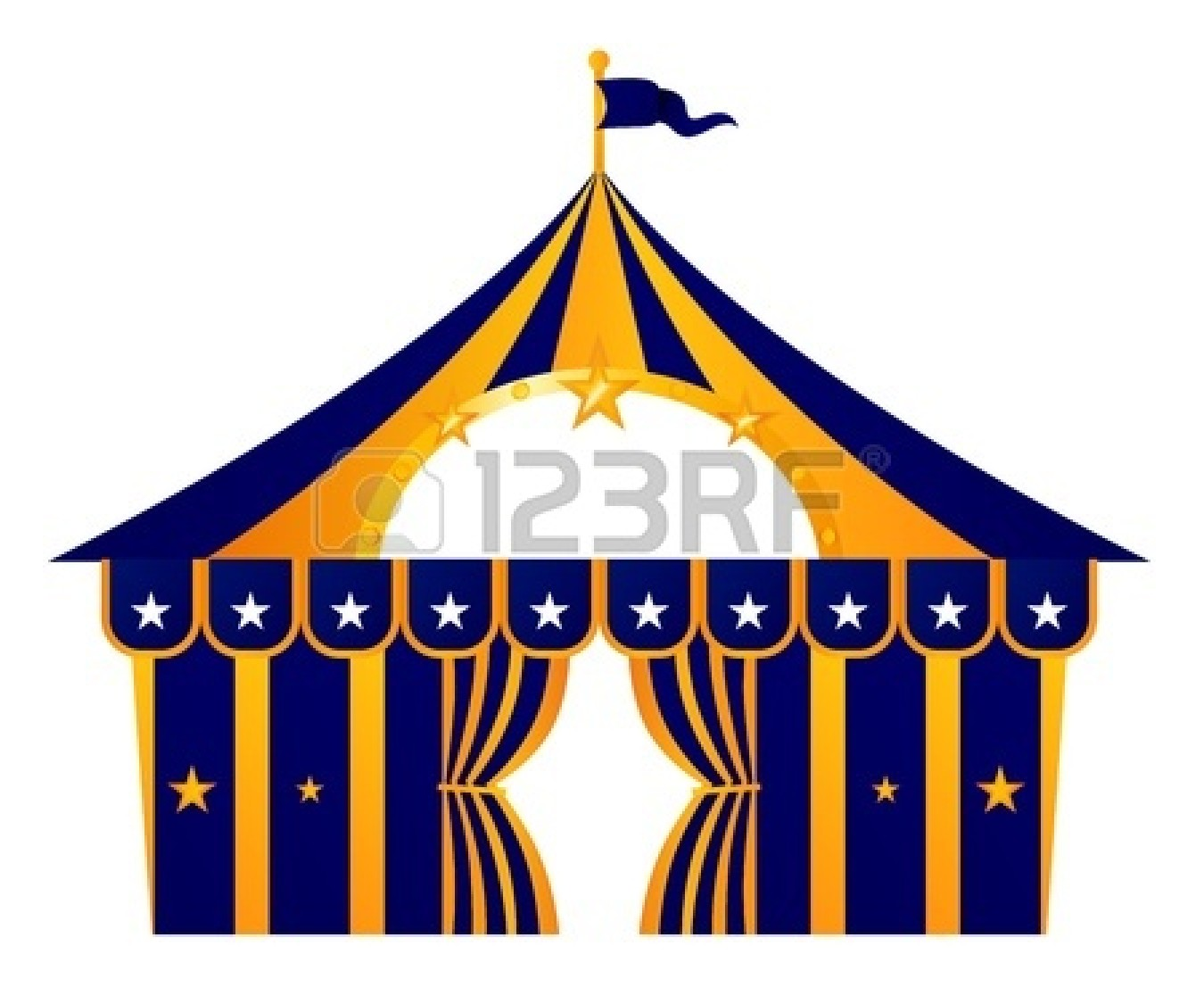 Stylized Circus Tent. Vector | Clipart Panda - Free ...