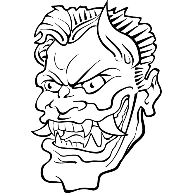Line Drawing Face Vector : Evil clipart panda free images