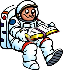 astronauts in space reading books - photo #23