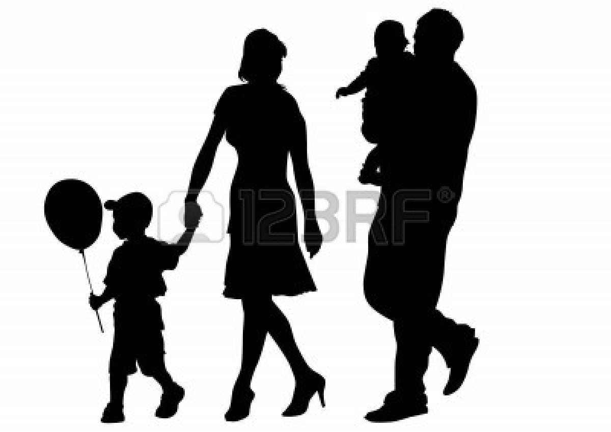 Use these free images for your websites  art projects  reports  and    Family Walking Silhouette