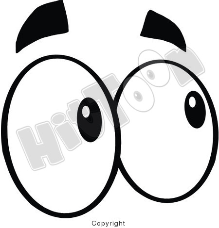 Pair Of Eyes Clipart Black And White