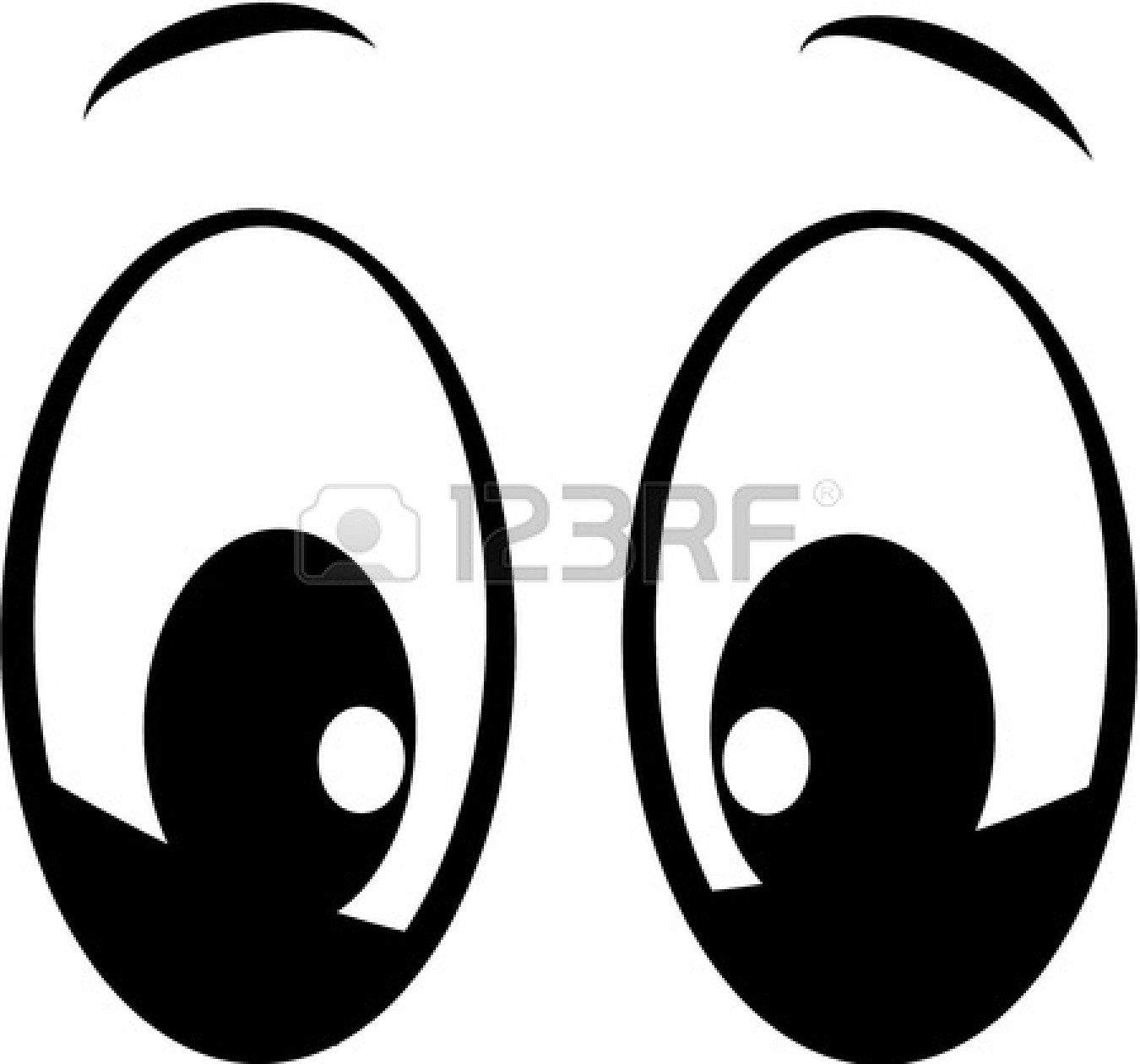 eyes looking down clipart - photo #14