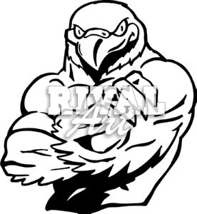 Gallery For > Falcon Mascot Clipart Black and White