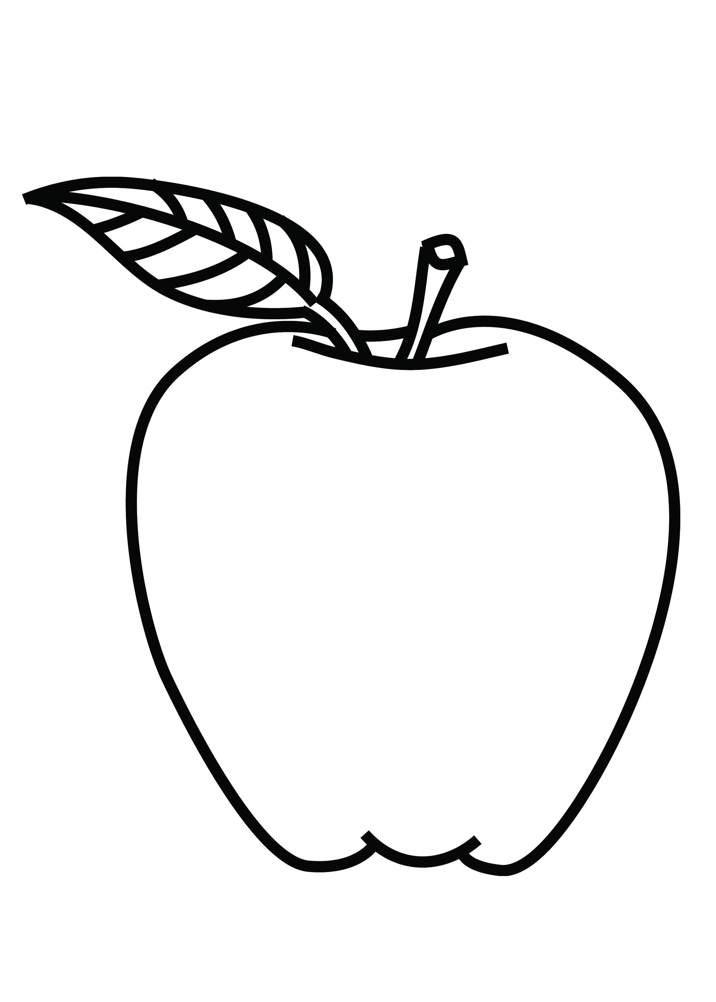 Free Coloring Pages Of How To Colour Apple