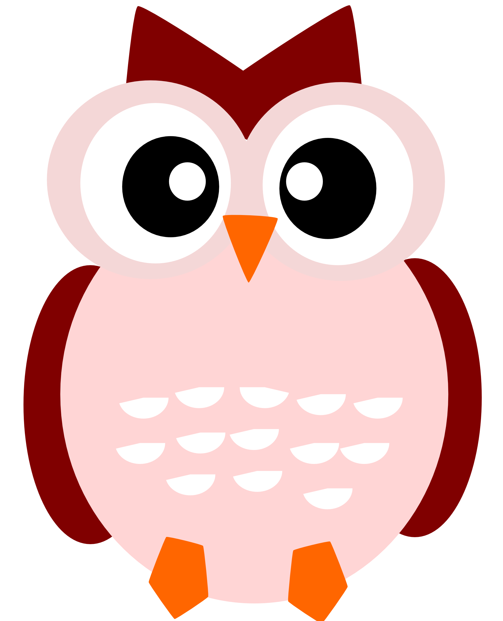 owl clip art clipart panda free clipart images clip art owl in a tree Red and Blue in a Tree Owls Clip Art