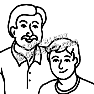 Dad Clipart Black And White | www.pixshark.com - Images ...