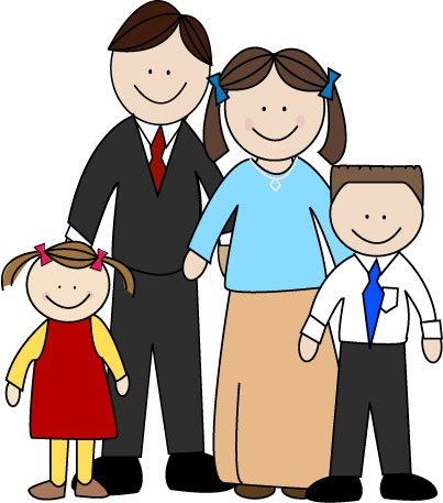a family with two children clipart panda free clipart images rh clipartpanda com free clipart images family free family tree clipart images