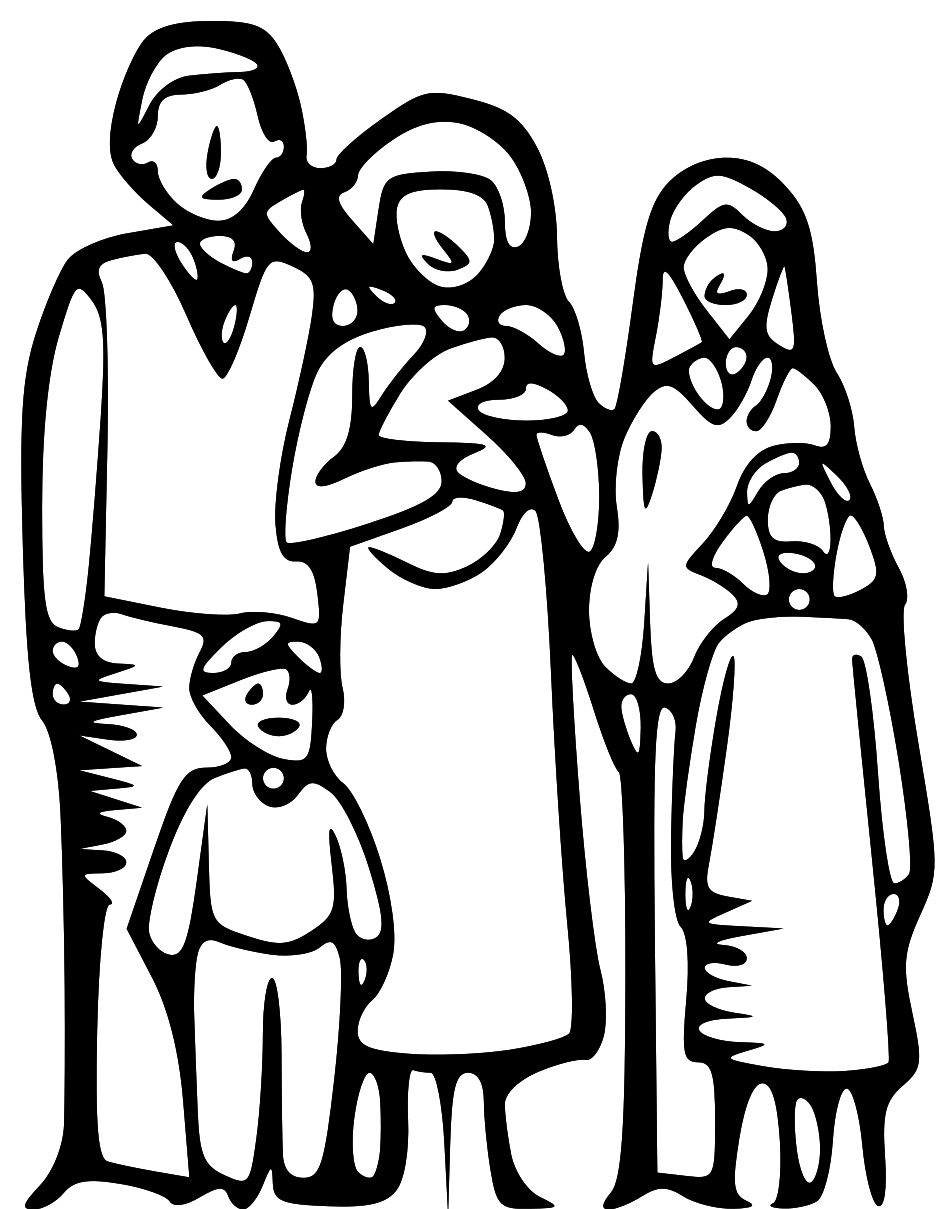 Happy Family Clipart Black And White | Clipart Panda ...