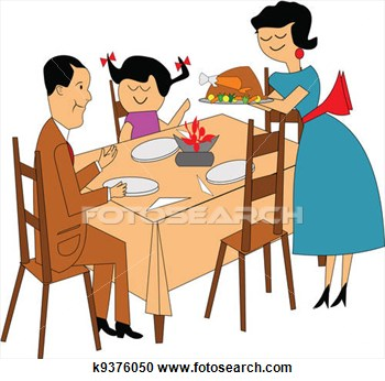 free clipart family meal - photo #21