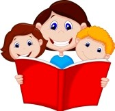 Image result for family reading niht clipart