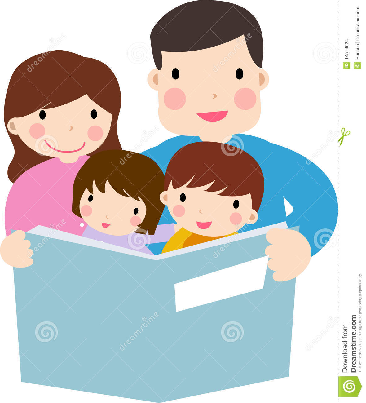clipart family reading together - photo #1