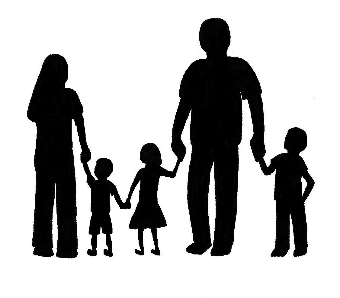 Family Silhouette Clip Art Clipart Panda Free Clipart