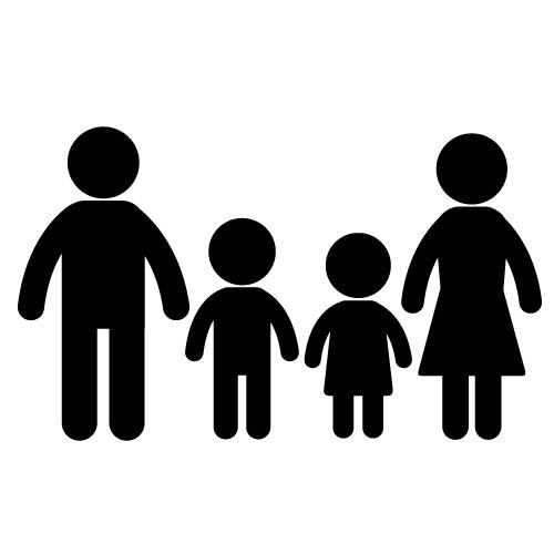 family silhouette clip art clipart panda free clipart