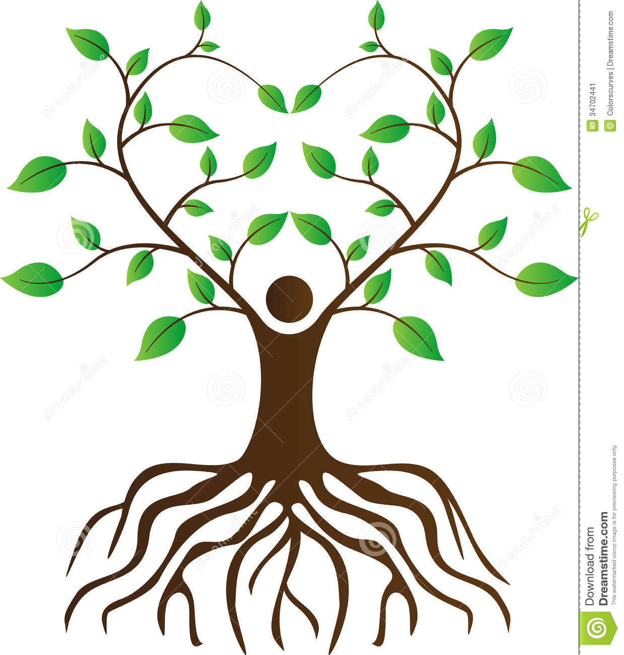 clipart family tree with roots - photo #6