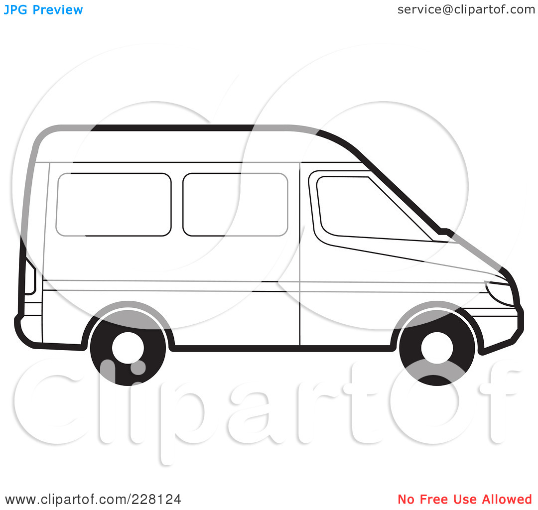 Coloring pages van - Volkswagen Bus Coloring Pages