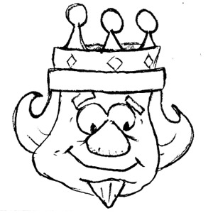 Bible King Coloring Page