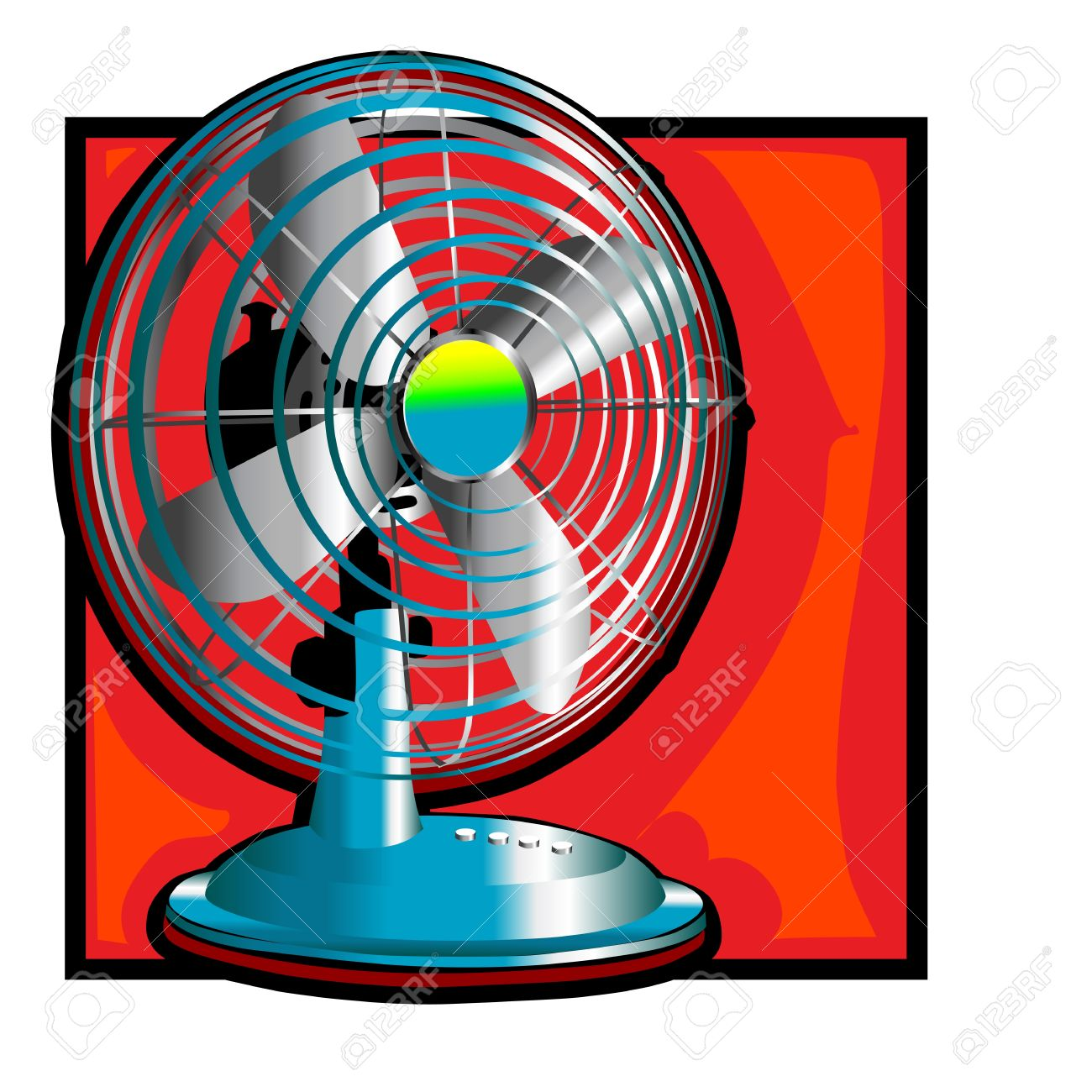 History About The Electric Fan : Retro wind fan clip art with a clipart panda free