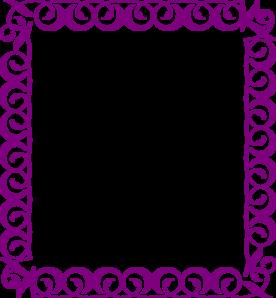 fancy 20clipart Purple Top Border Clip Art