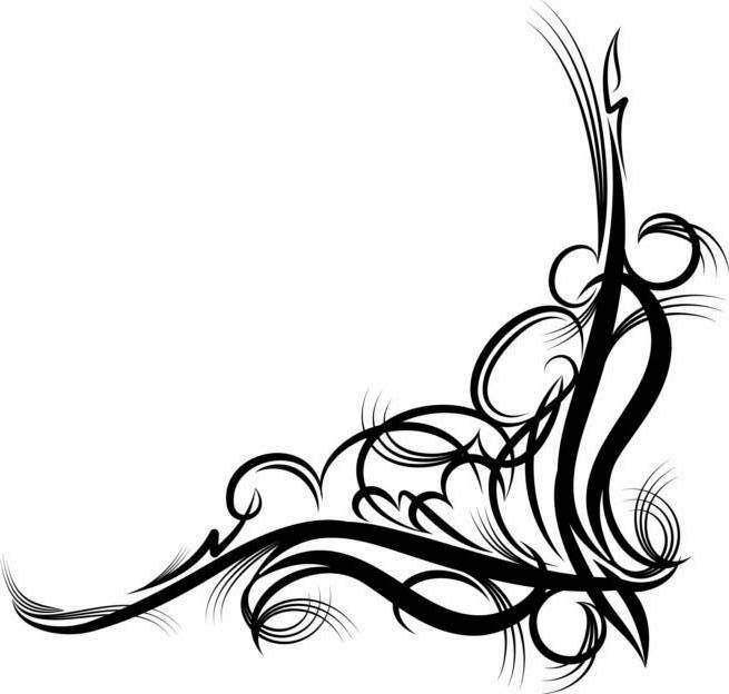 Fancy Corner Scroll Clip Art | Clipart Panda - Free ...