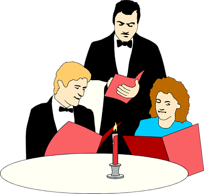 fancy 20dinner 20table   Waiter Clipart Png