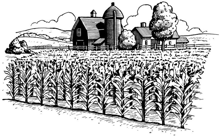 Farm Clip Art Black And White | Clipart Panda - Free ...