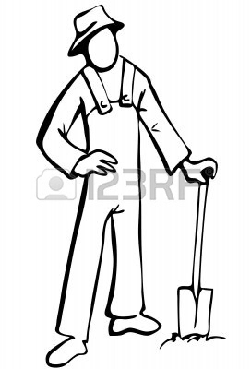 Farmer Hat Clipart Black And White | Clipart Panda - Free ...