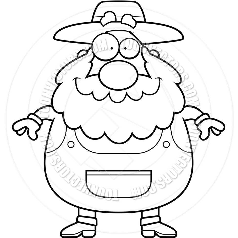 Farmer Smiling (Black and | Clipart Panda - Free Clipart ...