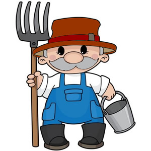 Farmer Clipart Black And White | Clipart Panda - Free ...